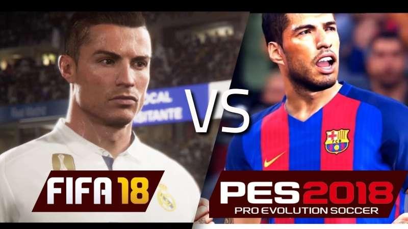 FIFA 18 Vs PES 18